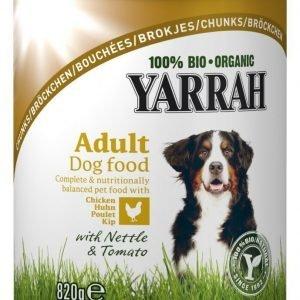 Yarrah Dog Organic Chicken Chunks 6x820 G
