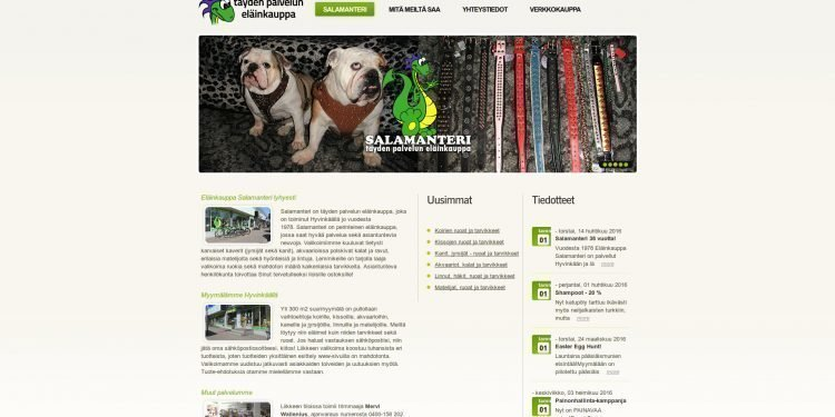 Eläinkauppa Salamanteri